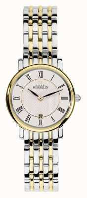 Michel Herbelin Alça de prata de ouro de aço inoxidável dois tom da mulher 16945/BT01