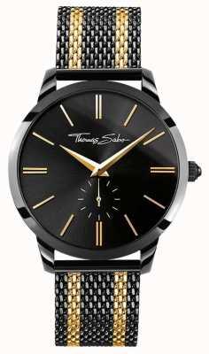 Thomas Sabo Mens espírito rebelde ferro chapeado ouro aço inoxidável WA0281-284-203-42
