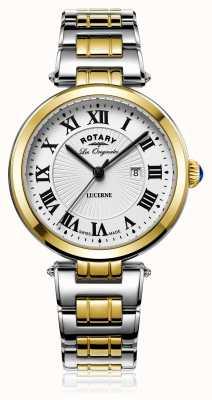 Rotary Lucerna da mulher dois tom de ouro prateado LB90188/01/L