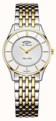 Rotary Relógio ultraslim mulher | pulseira de aço inoxidável / pvd em dois tons | LB90801/41