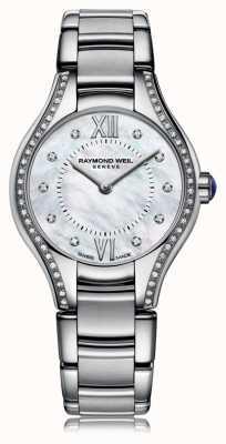 Raymond Weil Noemia da mulher 62 mãe de diamante de discagem pérola 5124-STS-00985