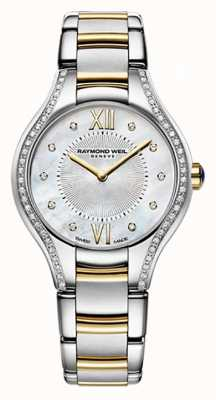 Raymond Weil Womans two tone noemia 62 diamante mãe de pérola 5124-SPS-00985