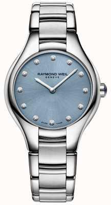 Raymond Weil Noemia da mulher 12 diamantes azuis 5132-ST-50081