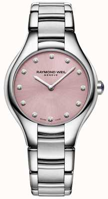 Raymond Weil Noemia da mulher 12 diamante rosa 5132-ST-80081
