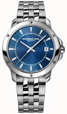 Raymond Weil Mens tango aço inoxidável azul indicador de discagem 5591-ST-50001