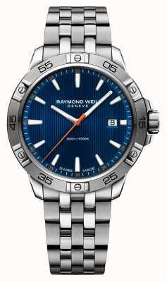 Raymond Weil Mens tango 41mm aço inoxidável azul indicador de discagem 8160-ST2-50001