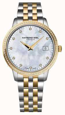 Raymond Weil Relógio toccata da mulher | cinta de aço inoxidável / pvd de dois tons | 5988-STP-97081