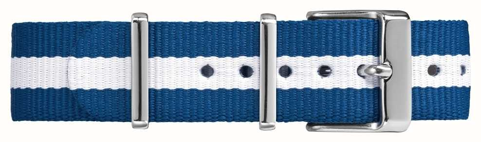 Timex Weekender fairfield 18mm pulseira branca azul TW7C07300