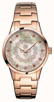 88 Rue du Rhone Rive 32mm senhoras quartzo rosa de ouro 87WA153202