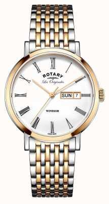 Rotary Gents dois tom pulseira rosa GB90155/01