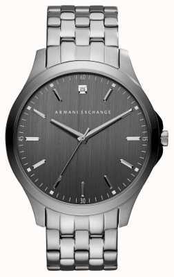 Armani Exchange Relógio de aço inoxidável cinza gunmetal AX2169