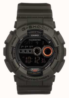 Casio Mens edição limitada g-shock green GD-100MS-3ER