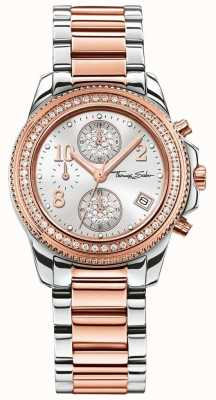 Thomas Sabo Senhoras glam crono de aço inoxidável / ouro rosa WA0241-272-201-33