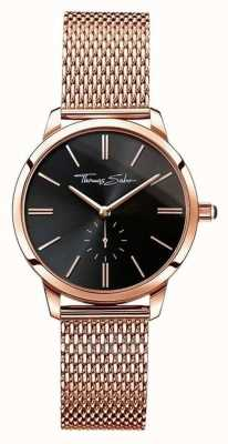 Thomas Sabo Senhoras glam spirit rose gold, black dial WA0249-265-203-33