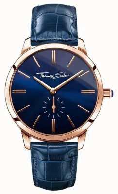 Thomas Sabo Senhoras glam espírito azul couro WA0250-270-209-33