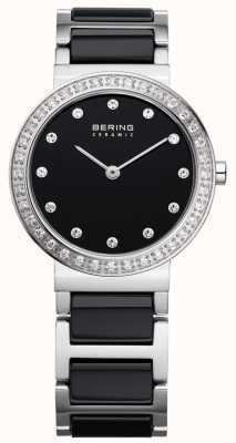 Bering preto cerâmica / stainlss aço 10729-702