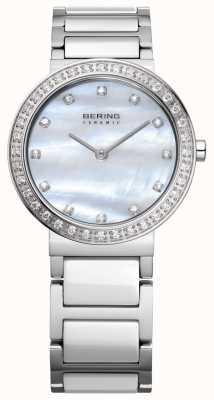 Bering Prata de aço inoxidável das mulheres 10729-704