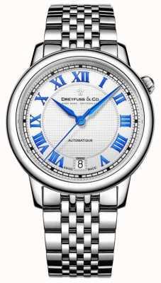 Dreyfuss Senhoras de aço inoxidável 1925 relógio DLB00148/01