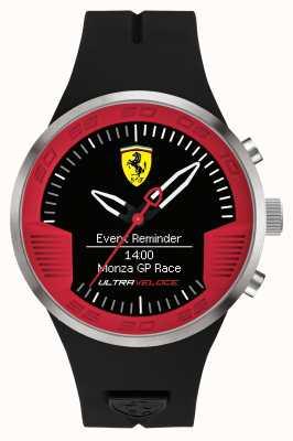 Scuderia Ferrari Mens black rubber strap preto vermelho 0830373