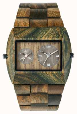 WeWood Mens jupiter rs cinta de madeira do exército 70331100
