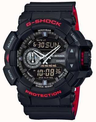 Casio Mens g-shock alarm cronógrafo pulseira de resina preta GA-400HR-1AER