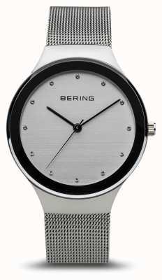 Bering Clássico das mulheres | prata polida | pulseira de malha de prata 12934-000