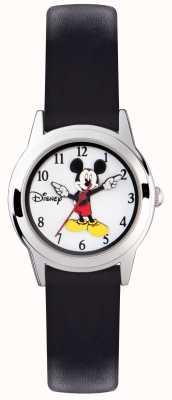 Disney Adult Mickey mouse kids prateado cinta preta MK1314