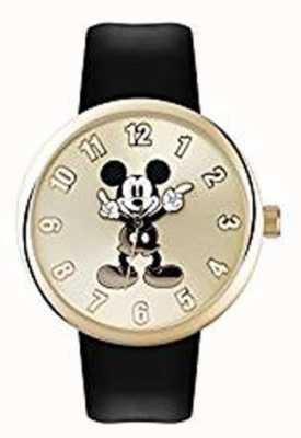 Disney Adult Pulseira de ouro caso mickey mouse preto MK1443