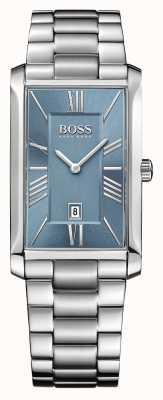 Hugo Boss Mens almirante pulseira de aço inoxidável mostrador azul 1513438