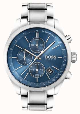 Hugo Boss Mens grand prix de aço inoxidável mostrador azul 1513478