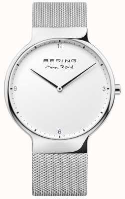 Bering Mens max rené prata alça de malha intercambiáveis 15540-004