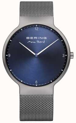 Bering Mens max rené malha alça intercambiável cinza 15540-077