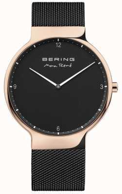 Bering Mens max rené alça de malha preta intercambiável 15540-262