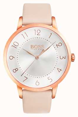 Hugo Boss Relógio de couro rosa eclipse das mulheres 1502407