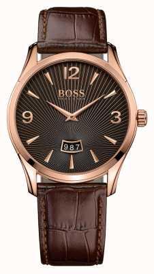 Hugo Boss Comandante de couro marrom 1513426
