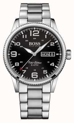 Hugo Boss Relógio de piloto em aço inoxidável vintage Gents 1513327