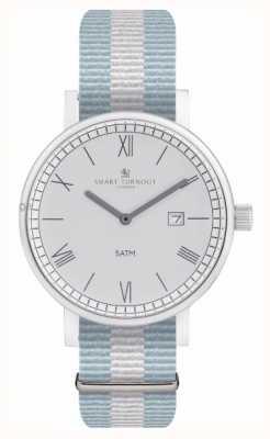 Smart Turnout Relógio do condado - prata com alça ell STK1/SV/56/W