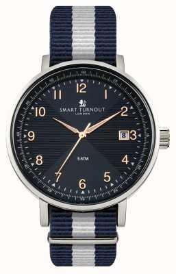 Smart Turnout Scholar relógio azul com pulseira de yale STH3/BL/56/W