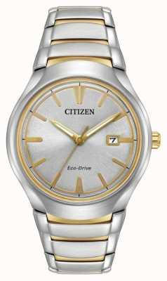 Citizen Mens eco drive paradigma de dois tons AW1554-59H