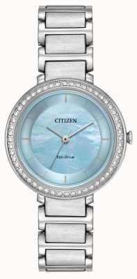 Citizen Cristal de silhueta da mulher eco-drive azul EM0480-52N