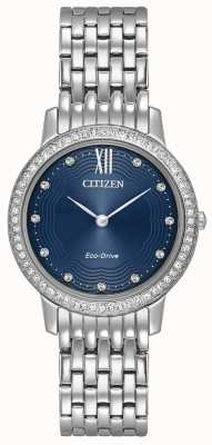 Citizen Womans eco-drive silhueta cristal azul EX1480-58L