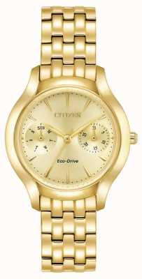 Citizen Womans eco-drive silhueta ouro de chandler FD4012-51P