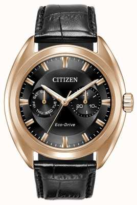 Citizen Mens eco-drive paradex couro preto BU4013-07H