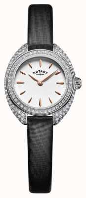 Rotary Womans petite stone set prata de malha LS05087/02