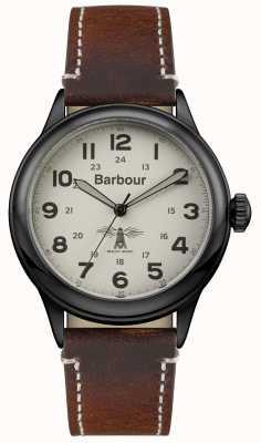 Barbour Couro marrom de murton dos homens BB056CMBR