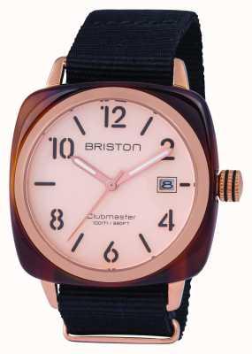 Briston Mens clubmaster classic acetato rosa de ouro 14240.PRA.T.6.NB