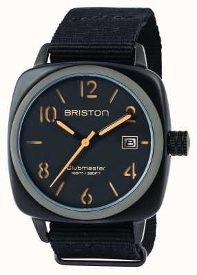 Briston Mens clubmaster classic hms acetato preto fosco 14240.PBAM.B.4.NB