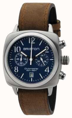 Briston Mens clubmaster clássico aço crono fosco azul 16140.S.C.15.LVBR