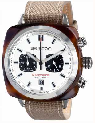 Briston Mens clubmaster esporte acetato tartaruga crono branco 15142.SA.TS.2.LSK
