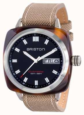 Briston Mens clubmaster esporte acetato hms tartaruga preta 15342.SA.TS.1.LSK